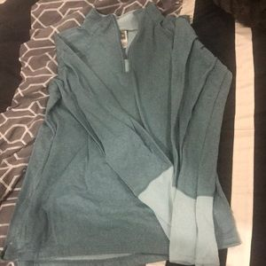 Teal Northface Pull Over